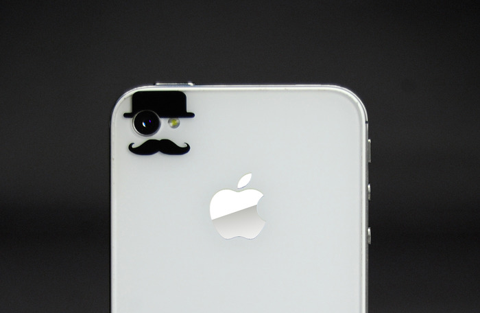 The vinyl decals that cleverly fit over iphone camera eye likertise